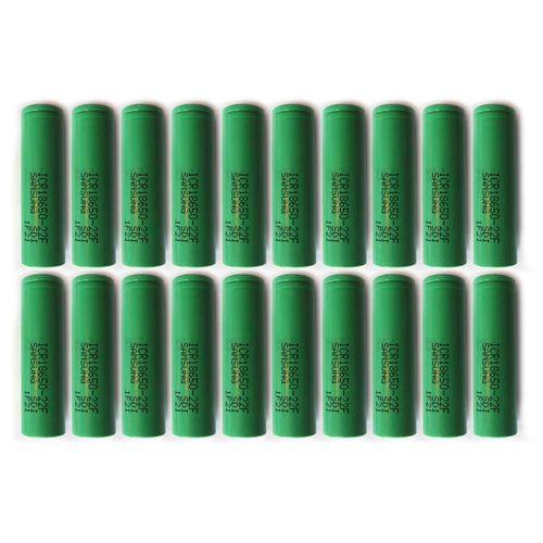 باتری لیتیم یون سامسونگ قابل شارژ مدلICR18650-22F ظرفیت 2200 میلی آمپر بسته 20 تایی