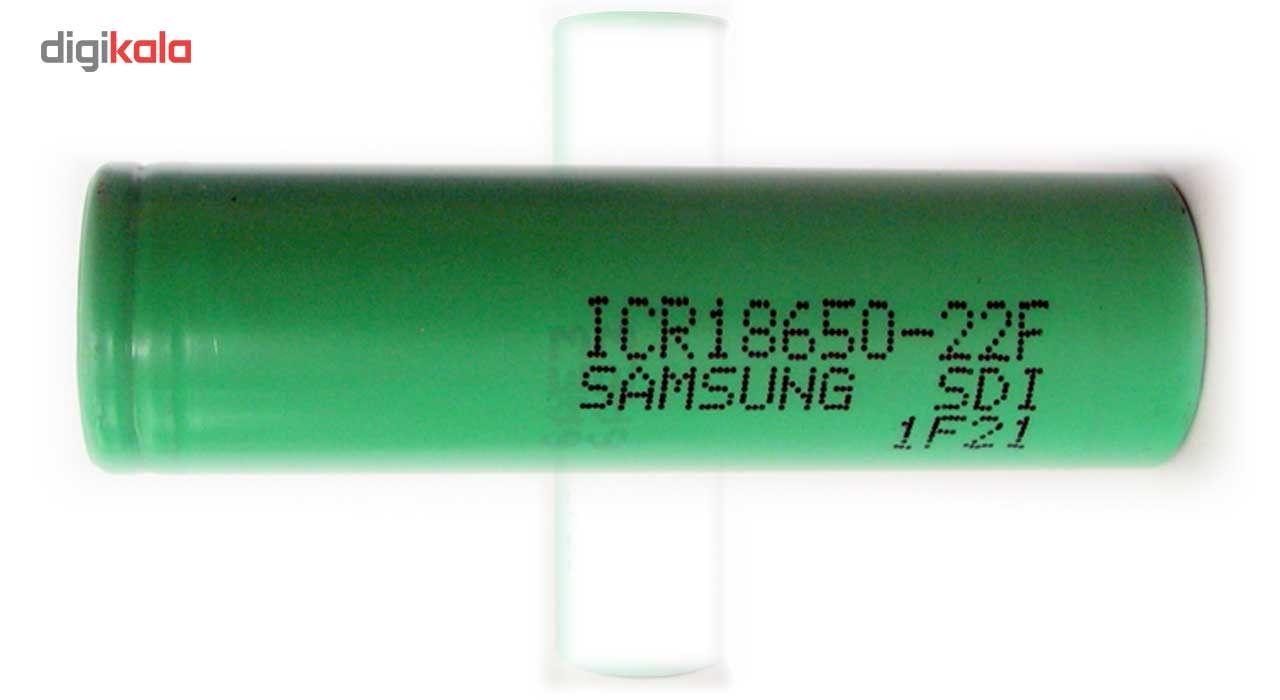 باتری لیتیم یون سامسونگ قابل شارژ مدل ICR18650-22F ظرفیت 2200 میلی آمپر main 1 2
