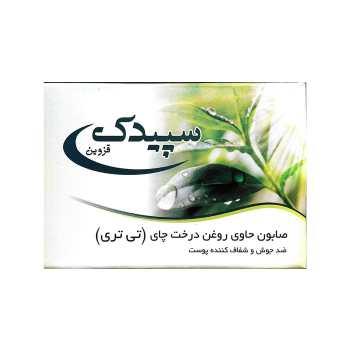 صابون Tea Tree Oil  سپیدک  حاوی روغن درخت چای مدل ضد آکنه و ضد عفونی کننده حجم 100 گرم