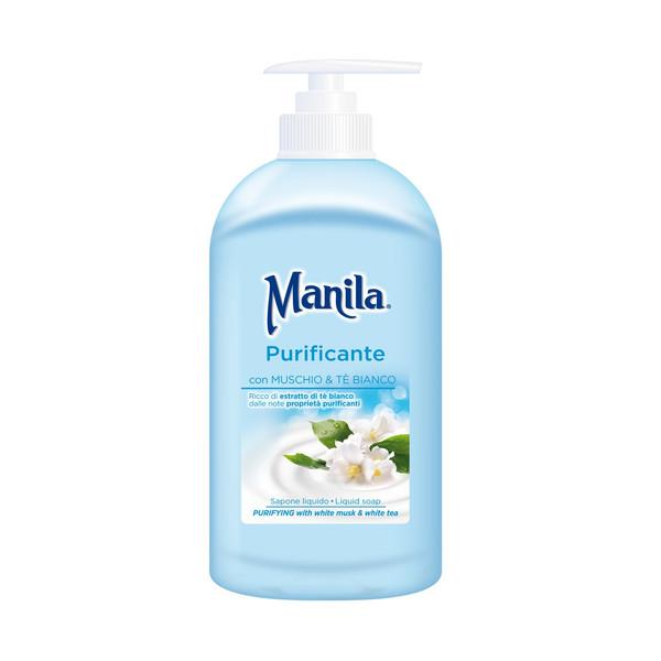 صابون مایع مانیلا مدل Purifying Liquid soap حجم 500 میلی لیتر