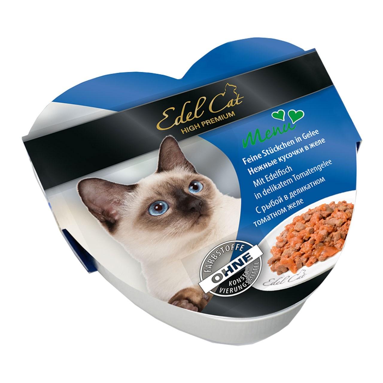 کنسرو ایدل کت گربه قلبی شکل حاوی گوشت گوساله و بره در سس پرتقال 85 گرمی