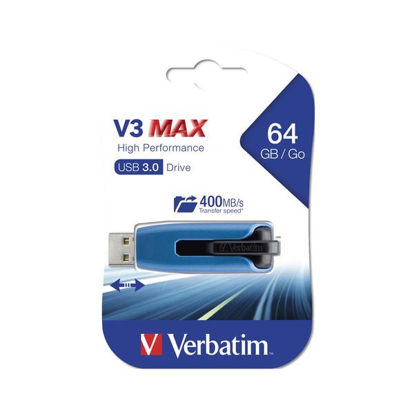 فلش مموری ورباتیم مدل Store n Go V3 Max ظرفیت 64 گیگابایت