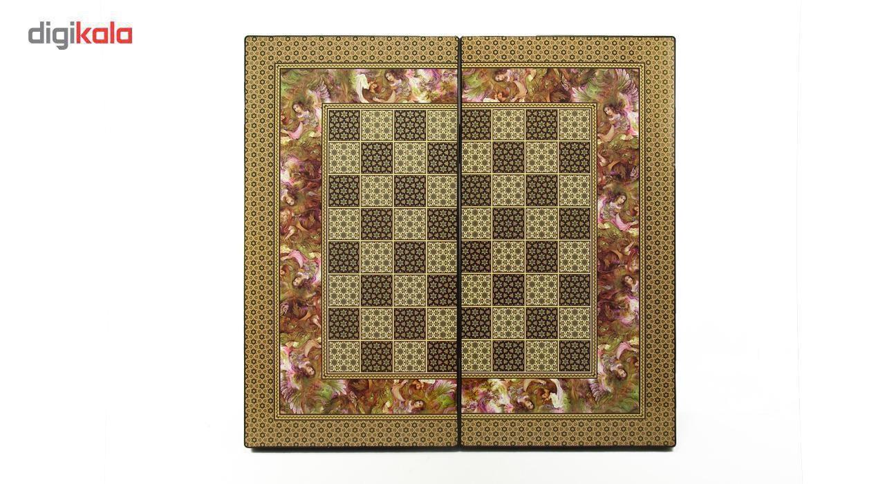 صفحه شطرنج  گالری نفیس طرح خاتم مینیاتور طول 50 سانتیمتر