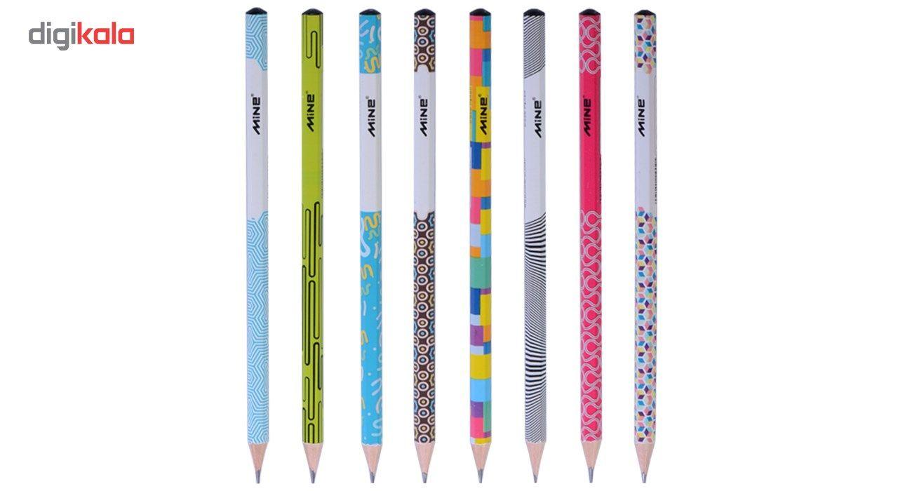 مداد مشکی ماین مدل نوادا -بسته 8 عددی main 1 1