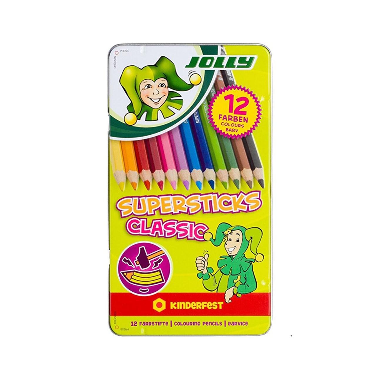 مداد رنگی 12 رنگ جولی مدل 0500-3000