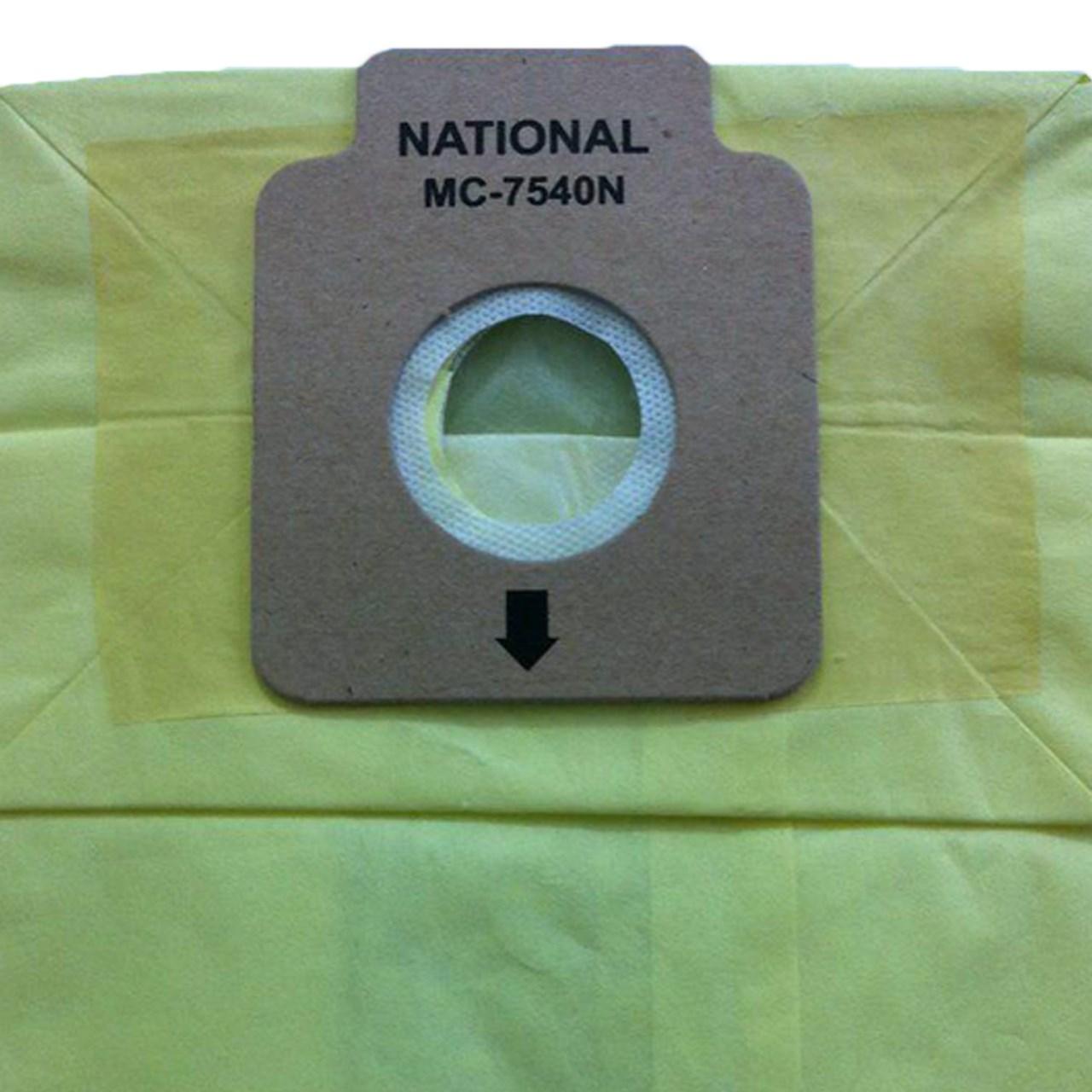 خرید                     کیسه جاروبرقی ناسیونال مدل 7540 بسته 5 عددی