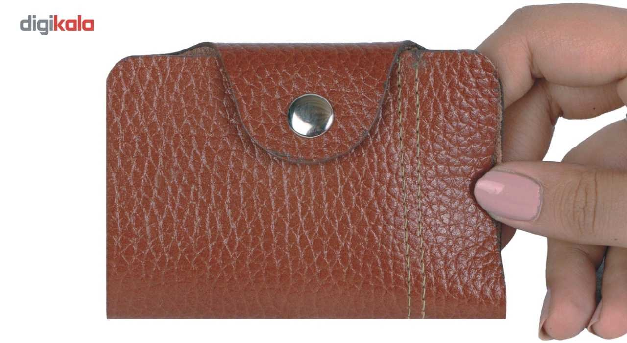 MAACHARM Leather credit card and id card holder case, button model