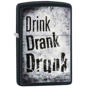 فندک زیپو مدل 29618 Drink Drank Drunk Design