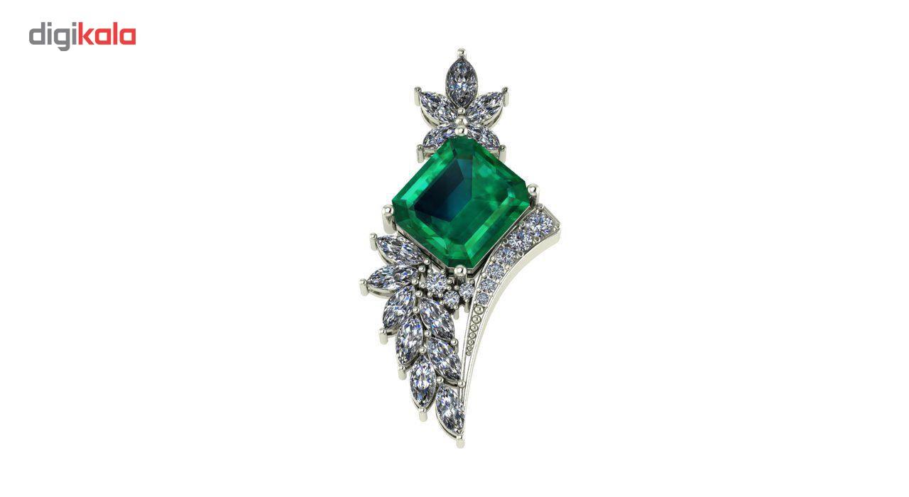 آویز طلا اونیکست مدل Emerald 2224
