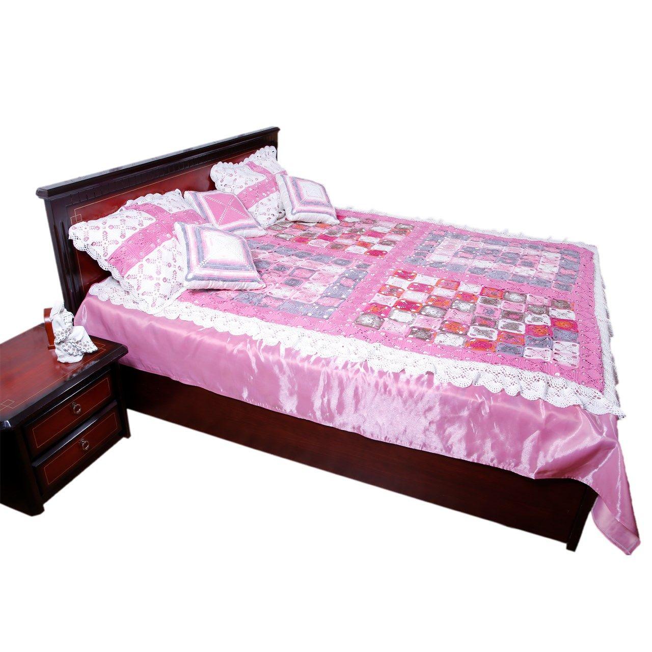 سرویس خواب ثمین مدل Pink Roze دو نفره 4 تکه