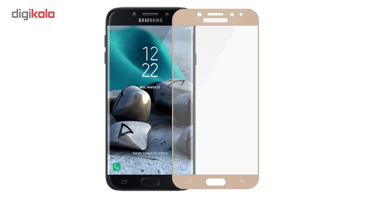 محافظ صفحه نمایش تمپرد مدل فول چسب مناسب برای گوشی موبایل سامسونگ Galaxy J7 Pro main 1 2