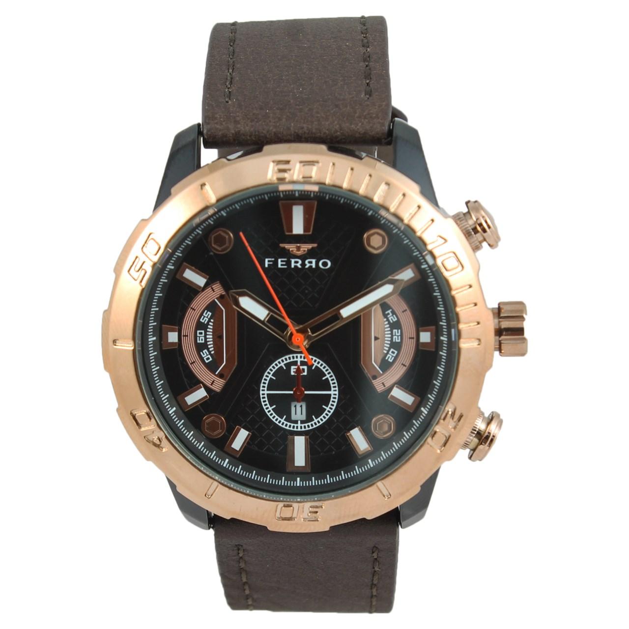 ساعت مچی عقربه ای مردانه فرو مدل F61511-633-R