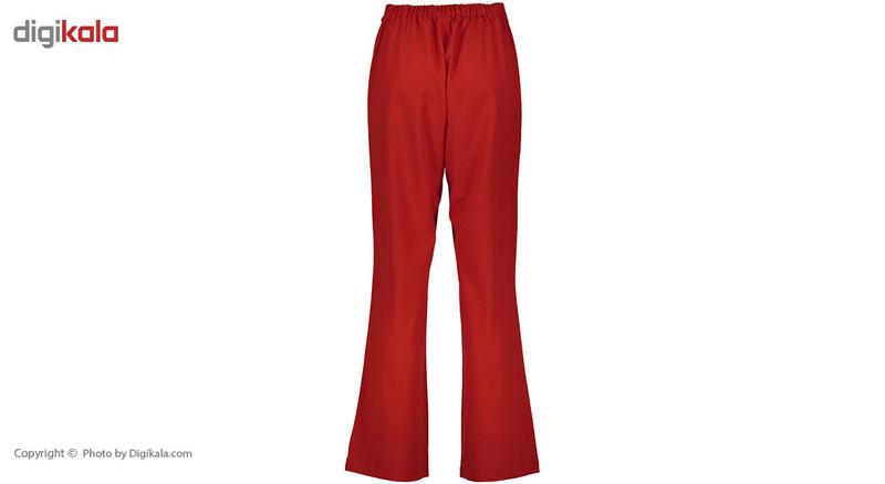 شلوار دمپا گشاد کمرکش زنانه قرمز مدل 233