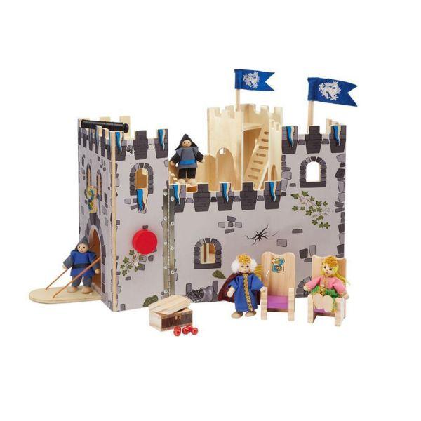 اسباب بازی پلیتیو جونیور مدل قلعه چوبی پادشاه