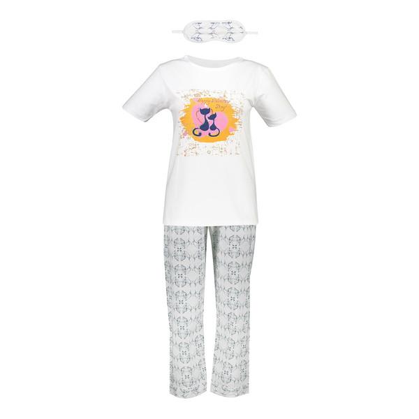 ست تی شرت و شلوار  زنانه ناوالس  کدSET02WH