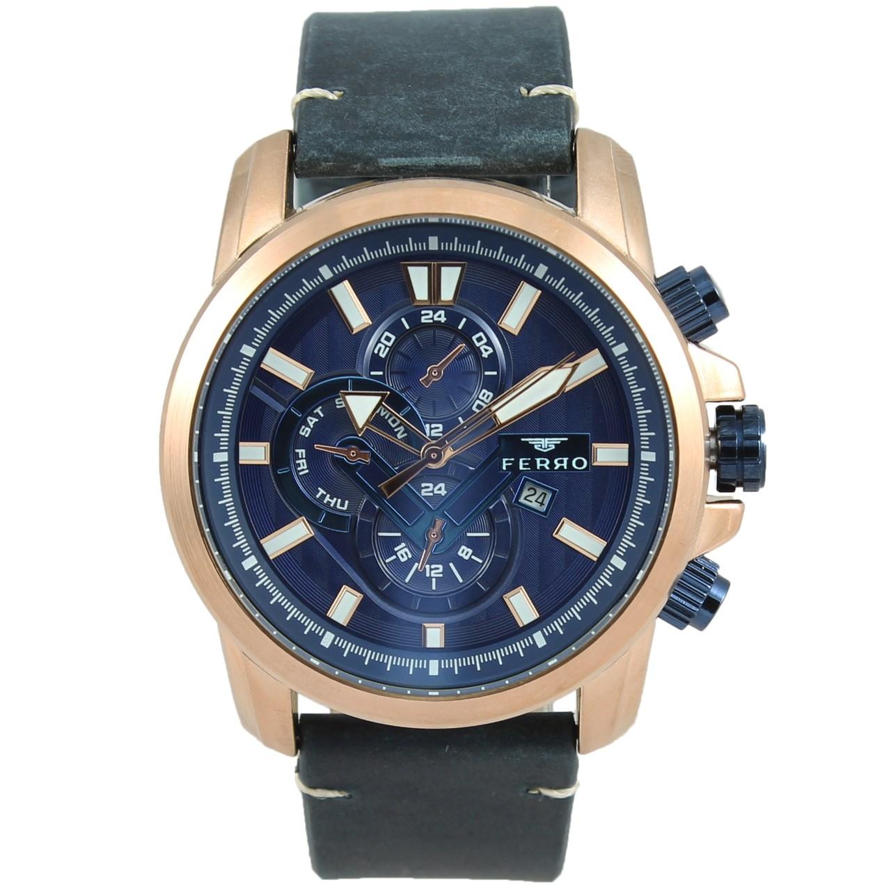 ساعت مچی عقربه ای مردانه فرو مدل F61514-565-T