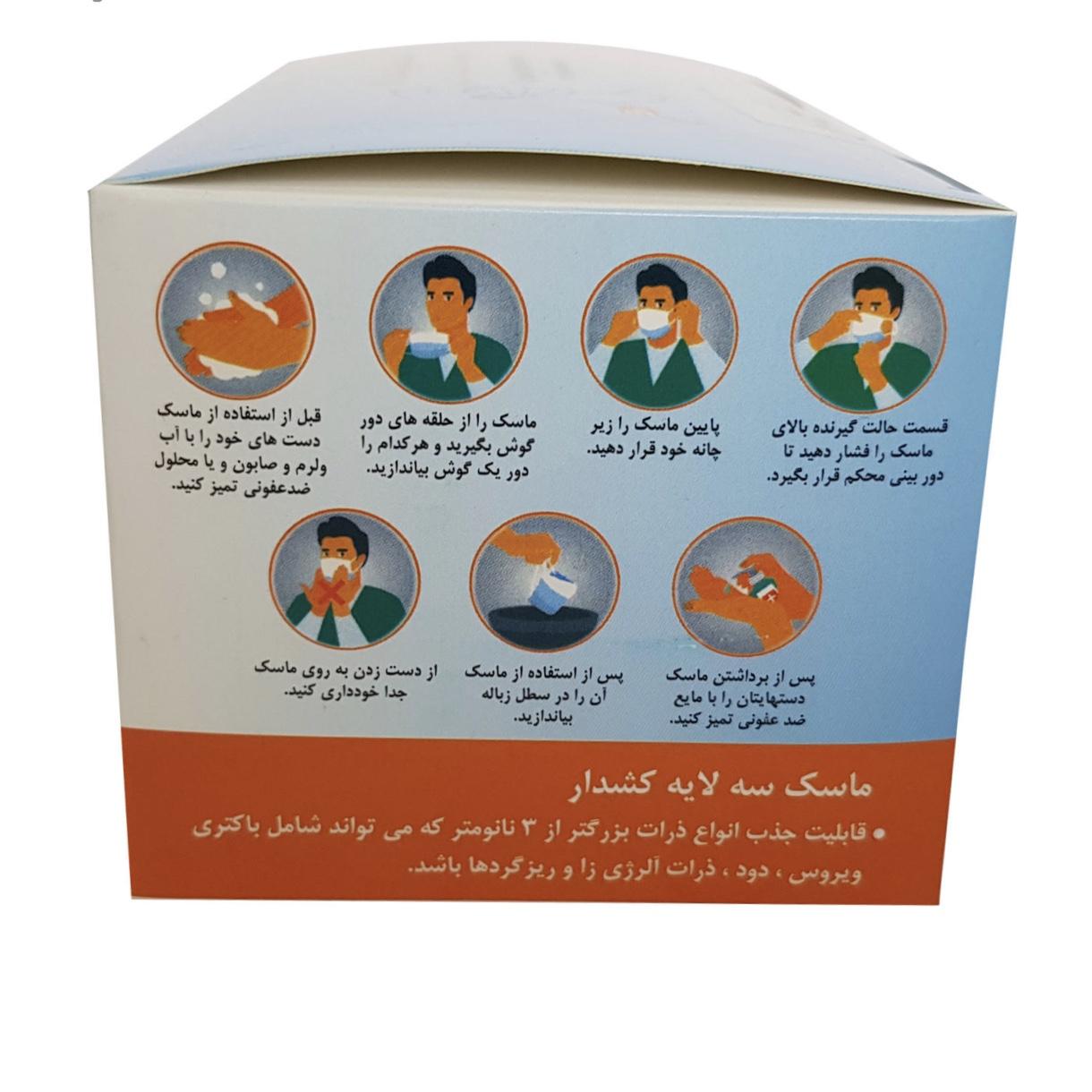 ماسک تنفسی مدل MZ بسته 3000 عددی