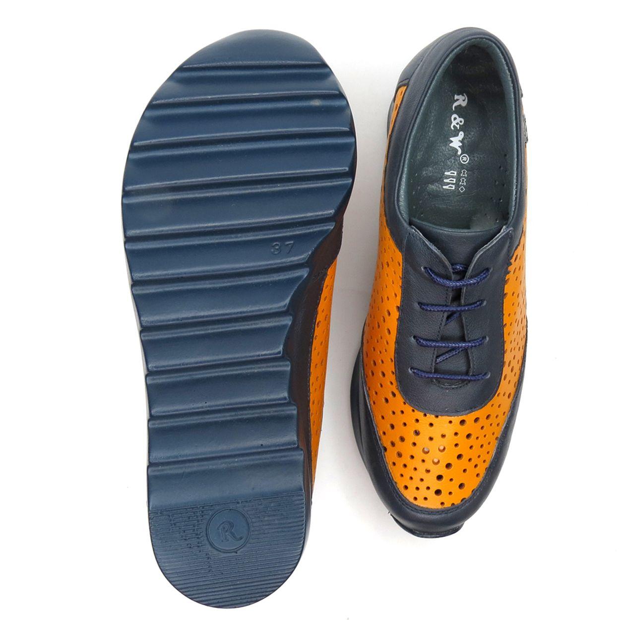 کفش روزمره زنانه آر اند دبلیو مدل 642 رنگ سرمه ای -  - 6