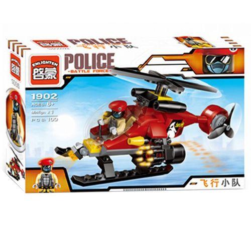 ساختنی هلیکوپتر  پلیس انلایتن  مدل 1902 تعداد 100 قطعه