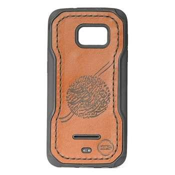 کاور چرمی مدل سیاه مشق مناسب برای گوشی سامسونگ Galaxy S7