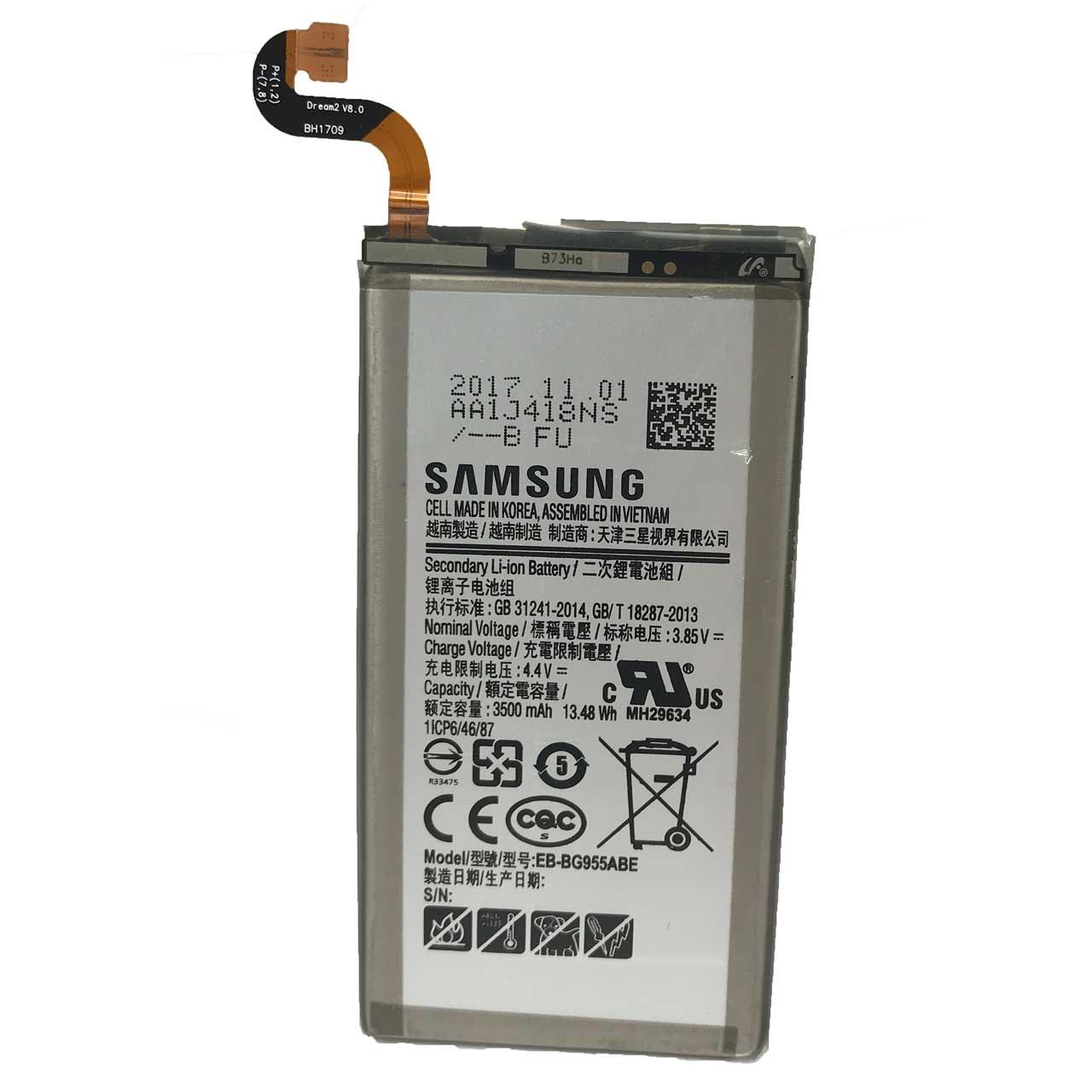 باتری موبایل مدل EB-BG955ABEبا ظرفیت 3500mAh مناسب برای گوشی موبایل سامسونگ Galaxy S8 PLUS                     غیر اصل