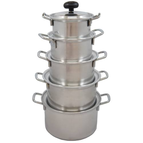 سرویس پخت و پز 10 پارچه روحی سروش مدل براق دسته استیل