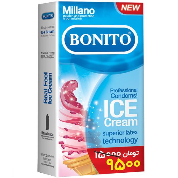 کاندوم بونیتو مدل Ice Cream بسته 6 عددی