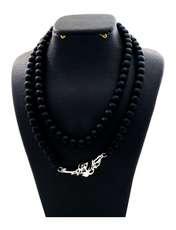 گردنبند نقره زنانه دلی جم طرح زندگی گل به توان ابدیت کد D 73 -  - 1