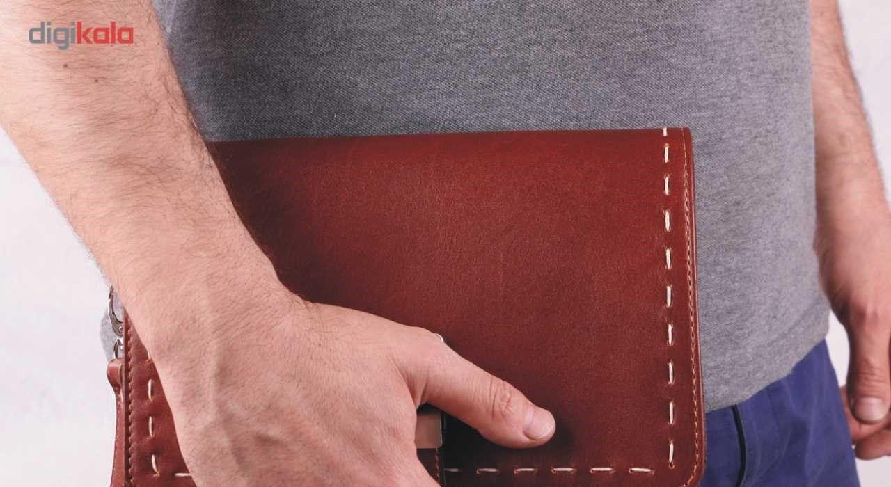 کیف دستی چرم ما مدل زیر بند قفل main 1 6
