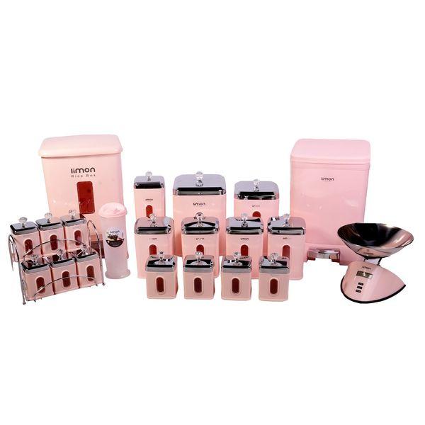 مشخصات قیمت و خرید سرویس آشپزخانه 22 پارچه لیمون مدل چهارگوش