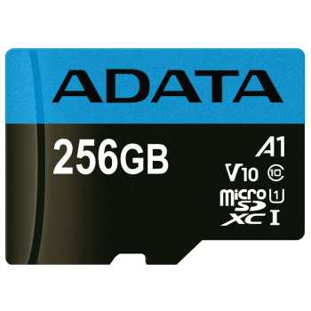 کارت حافظه microSDXC ای دیتا مدل Premier V10 A1 کلاس 10 استاندارد UHS-I سرعت 100MBps ظرفیت 256 گیگابایت