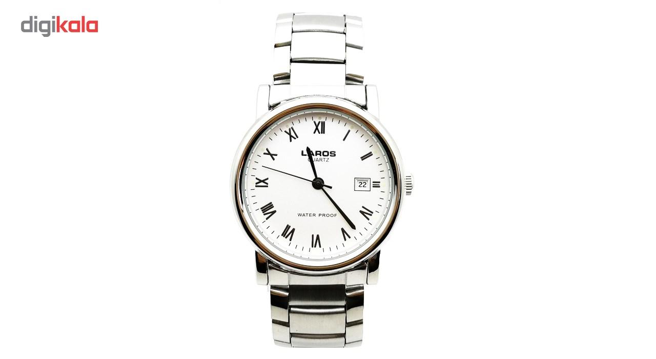 ساعت مچی عقربه ای لاروس مدل LMW-A120-White