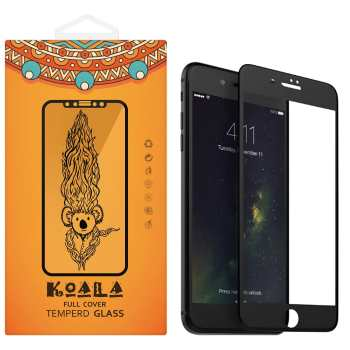 محافظ صفحه نمایش شیشه ای مات کوالا مدل Full Cover مناسب برای گوشی موبایل اپل آیفون 7Plus/8 Plus