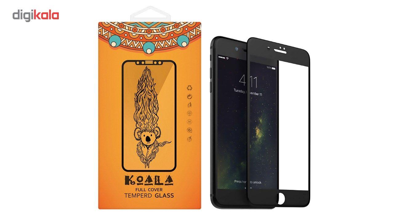 محافظ صفحه نمایش شیشه ای مات کوالا مدل Full Cover مناسب برای گوشی موبایل اپل آیفون 7Plus/8 Plus main 1 1