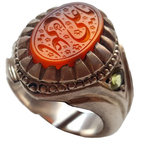 انگشتر نقره جواهرسرا عقیق مدل a053jw