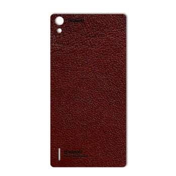 برچسب پوششی ماهوت مدلNatural Leather مناسب برای گوشی  Huawei Ascend P7