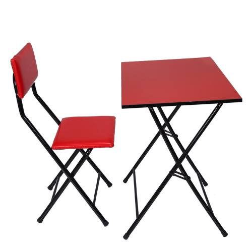 میز و صندلی تحریر تاشو و تنظیم شو باس قرمز
