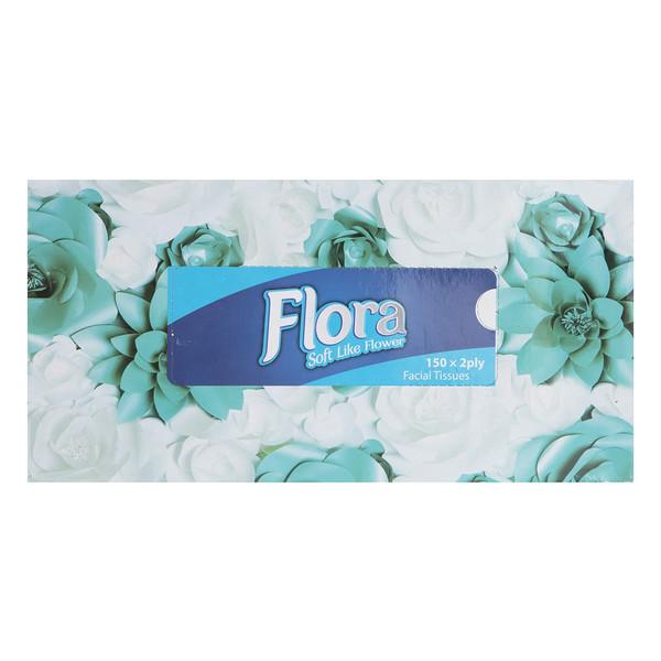 دستمال کاغذی فلورا طرح مهرنوش بسته 150 برگ