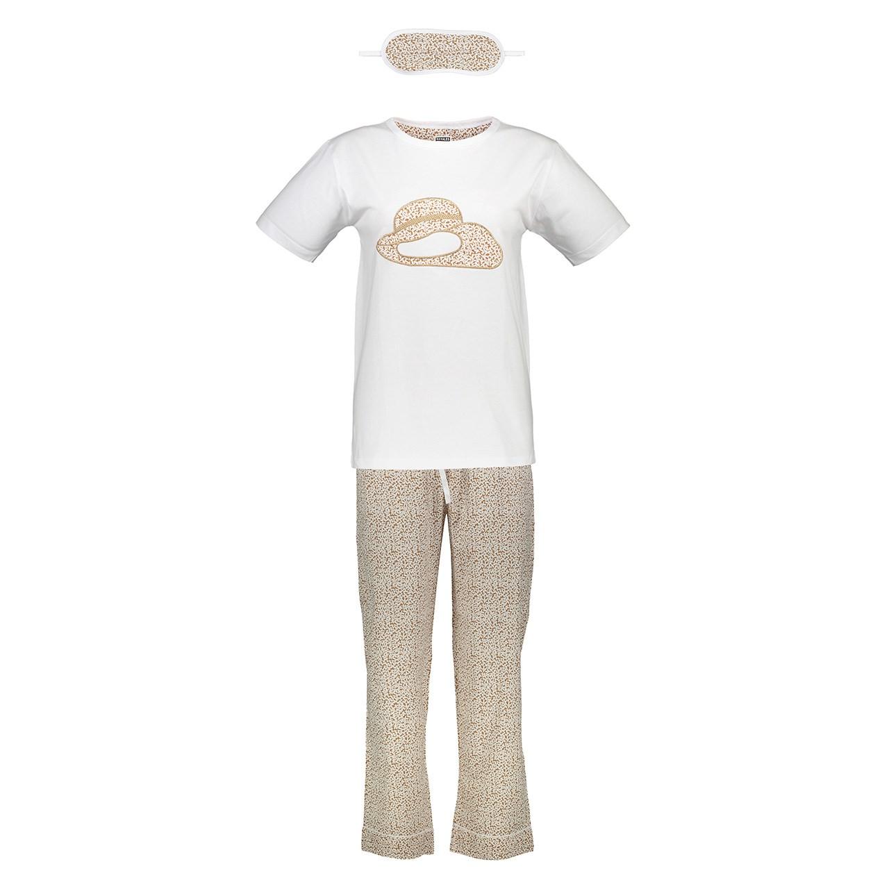 ست تی شرت و شلوار زنانه ناوالس کدSET01BW