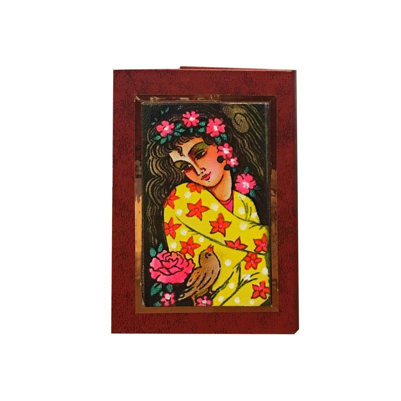 عکس آینه جیبی چرمی  گالری نفیس کد nz4
