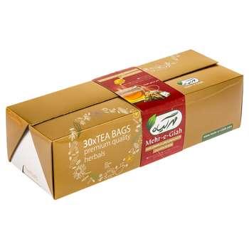 دمنوش گیاهی مهرگیاه بسته 30 عددی به همراه عسل بسته 12 عددی