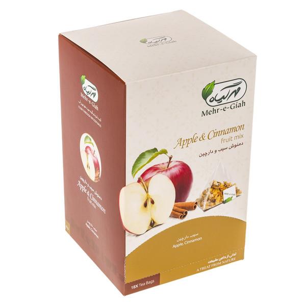 دمنوش میوه ای سیب و دارچین مهرگیاه بسته 18 عددی
