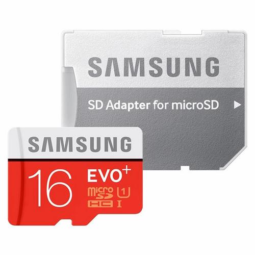کارت حافظه microSDXC سامسونگ مدل Evo Plus کلاس 10 استاندارد UHS-I U1 سرعت 80MBps همراه با آداپتور SD ظرفیت16 گیگابایت