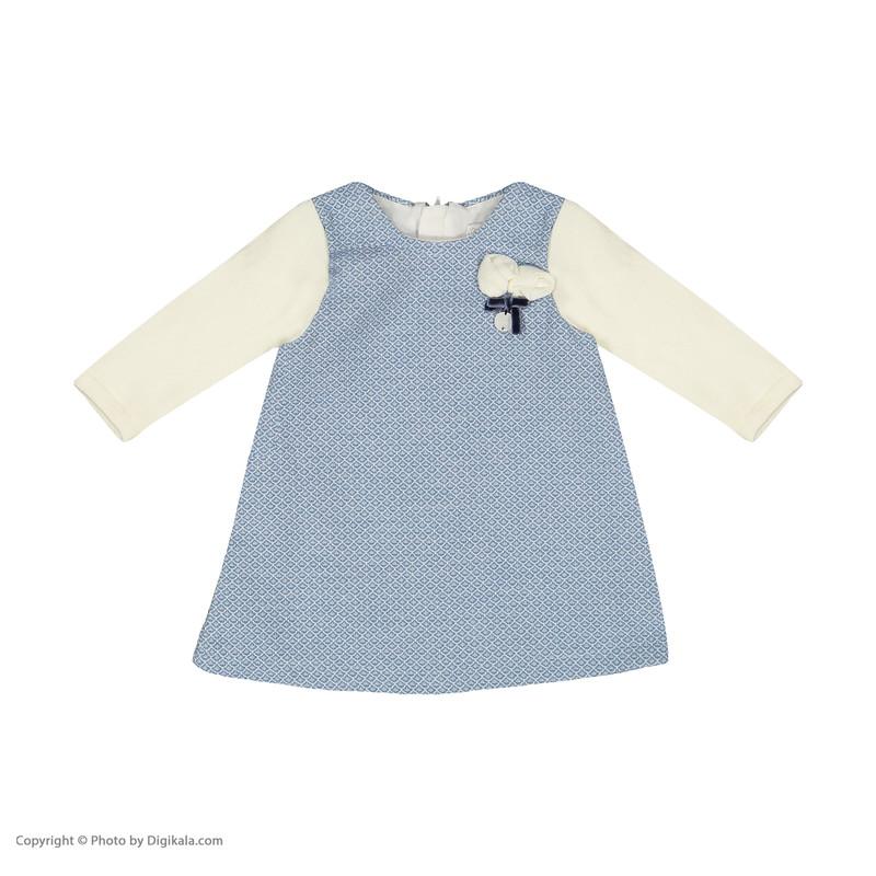 ست پیراهن و جوراب شلواری نوزادی دخترانه مونا رزا مدل 2141122-50