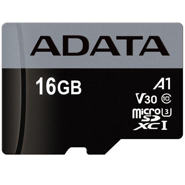 کارت حافظه microSDHC ای دیتا مدل Premier Pro V30 A1 کلاس 10 استاندارد UHS-I U3 سرعت 100MBps ظرفیت 16 گیگابایت | ADATA Premier Pro V30 A1 UHS-I U3 Class 10 100MBps microSDHC 16GB