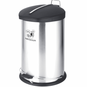 سطل زباله پدالی استیل آرتیستون صنعت کد 3020 گنجایش 20 لیتر