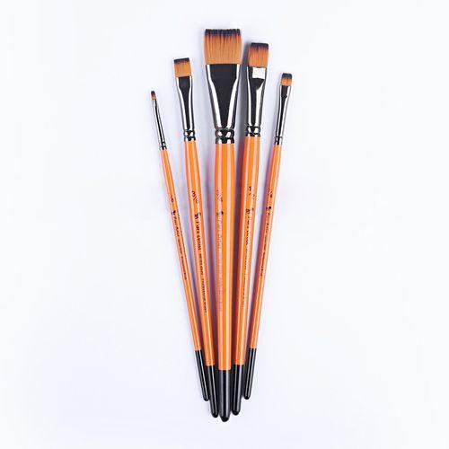 قلم مو پارس آرتیست کد 2030 تخت دسته کوتاه اینچی ست5 عددی