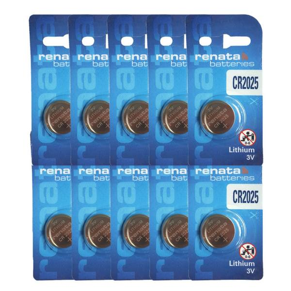 باتری سکه ای رناتا مدل CR2025 بسته 10 عددی