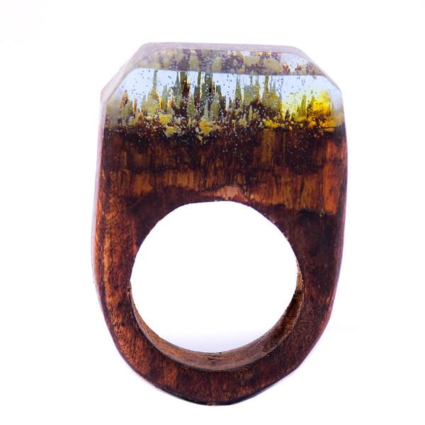 انگشتر باربد طرح چوبی کد Z2