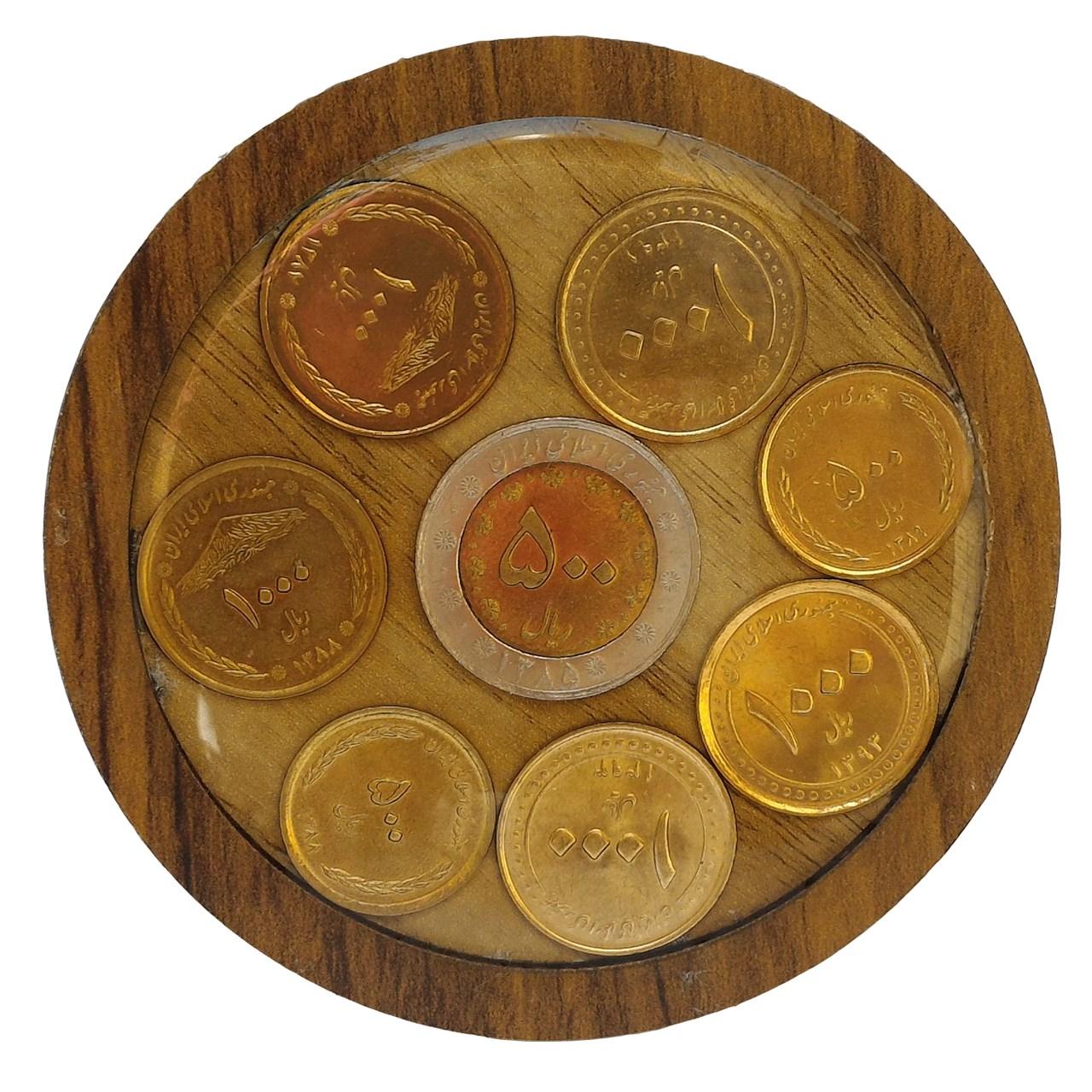 زیرلیوانی طرح سکه کد 50 مجموعه 6 عددی